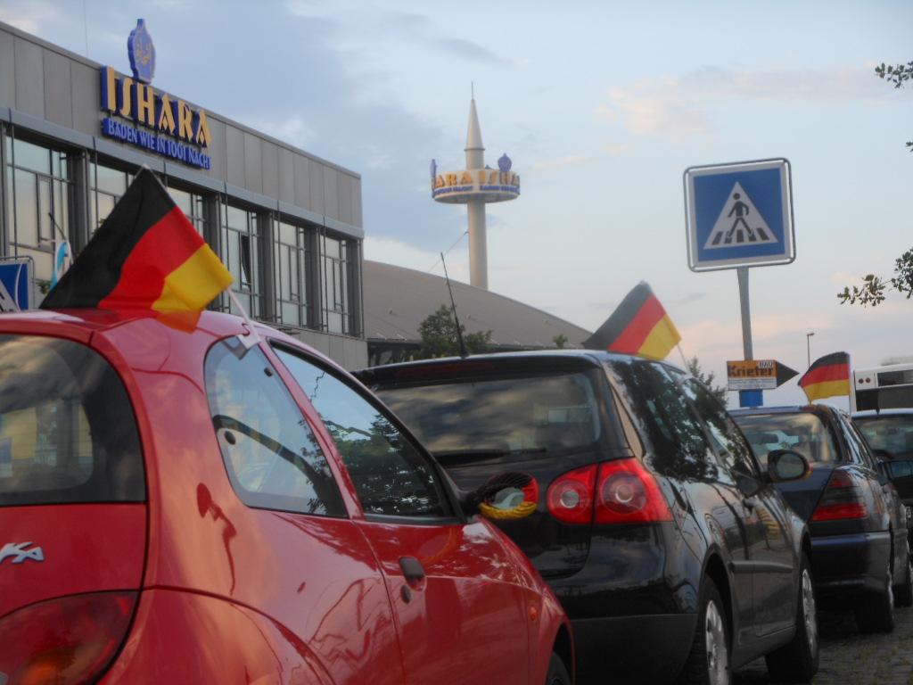 Fahnenmeer Fußball EM 2012